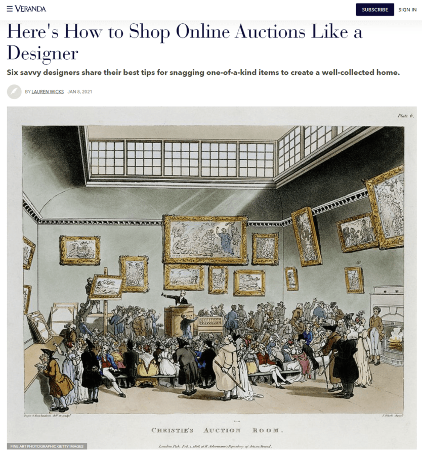 Here's How to Shop Online Auctions Like a Designer